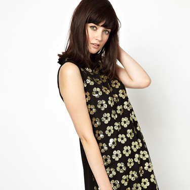 """<p>This Mary Quant-inspired dress will put a retro spin on your partywear - especially when teamed with bare legs (if you dare), loads of eyeliner and huge beehive hair.</p><p>Boutique by Jaeger floral sequin shift dress, now £135, <a href=""""http://www.asos.com/Boutique-by-Jaeger/Boutique-by-Jaeger-Shift-Dress-with-Floral-Sequin/Prod/pgeproduct.aspx?iid=3443594&SearchQuery=sequin&sh=0&pge=0&pgesize=204&sort=-1&clr=Black"""" target=""""_blank"""">asos.com</a></p><p><a href=""""http://www.cosmopolitan.co.uk/fashion/shopping/cheap-christmas-party-dresses"""" target=""""_blank"""">PARTY DRESSES FOR £25 OR LESS</a></p><p><a href=""""http://www.cosmopolitan.co.uk/fashion/fashion/shopping/christmas-party-dress-2013-alternatives"""" target=""""_blank"""">SHOP PARTY DRESS ALTERNATIVES</a></p><p><a href=""""http://www.cosmopolitan.co.uk/fashion/celebrity/how-to-wear-sheer-dress"""" target=""""_blank"""">CELEBS SHOW US HOW TO WEAR SHEER DRESSES</a></p>"""