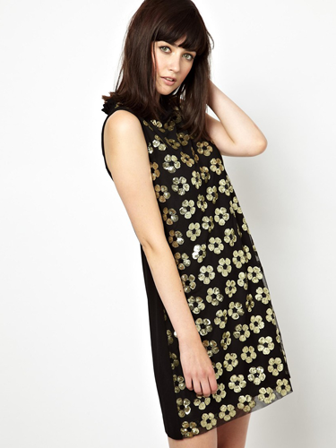 "<p>This Mary Quant-inspired dress will put a retro spin on your partywear - especially when teamed with bare legs (if you dare), loads of eyeliner and huge beehive hair.</p> <p>Boutique by Jaeger floral sequin shift dress, now £135, <a href=""http://www.asos.com/Boutique-by-Jaeger/Boutique-by-Jaeger-Shift-Dress-with-Floral-Sequin/Prod/pgeproduct.aspx?iid=3443594&SearchQuery=sequin&sh=0&pge=0&pgesize=204&sort=-1&clr=Black"" target=""_blank"">asos.com</a></p> <p><a href=""http://www.cosmopolitan.co.uk/fashion/shopping/cheap-christmas-party-dresses"" target=""_blank"">PARTY DRESSES FOR £25 OR LESS</a></p> <p><a href=""http://www.cosmopolitan.co.uk/fashion/fashion/shopping/christmas-party-dress-2013-alternatives"" target=""_blank"">SHOP PARTY DRESS ALTERNATIVES</a></p> <p><a href=""http://www.cosmopolitan.co.uk/fashion/celebrity/how-to-wear-sheer-dress"" target=""_blank"">CELEBS SHOW US HOW TO WEAR SHEER DRESSES</a></p>"