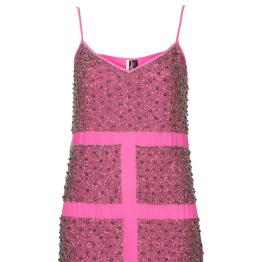 """<p>Wear this hot pink pewter bead slip dress now for party season and get ahead of the fashion trends for spring 2014 - pink is set to be HUGE news. We'd team this bobby dazzler with silver shoes and accessories for a fresh feel.</p><p>Pewter Bead Slip Dress, £125, <a href=""""http://www.topshop.com/en/tsuk/product/clothing-427/dresses-442/limited-edition-pewter-bead-slip-2505198?bi=1&ps=20"""" target=""""_blank"""">topshop.com</a></p><p><a href=""""http://www.cosmopolitan.co.uk/fashion/shopping/cheap-christmas-party-dresses"""" target=""""_blank"""">PARTY DRESSES FOR £25 OR LESS</a></p><p><a href=""""http://www.cosmopolitan.co.uk/fashion/fashion/shopping/christmas-party-dress-2013-alternatives"""" target=""""_blank"""">SHOP PARTY DRESS ALTERNATIVES</a></p><p><a href=""""http://www.cosmopolitan.co.uk/fashion/celebrity/how-to-wear-sheer-dress"""" target=""""_blank"""">CELEBS SHOW US HOW TO WEAR SHEER DRESSES</a></p>"""
