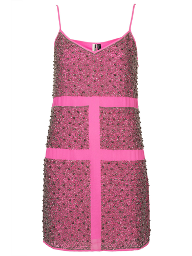 "<p>Wear this hot pink pewter bead slip dress now for party season and get ahead of the fashion trends for spring 2014 - pink is set to be HUGE news. We'd team this bobby dazzler with silver shoes and accessories for a fresh feel.</p> <p>Pewter Bead Slip Dress, £125, <a href=""http://www.topshop.com/en/tsuk/product/clothing-427/dresses-442/limited-edition-pewter-bead-slip-2505198?bi=1&ps=20"" target=""_blank"">topshop.com</a></p> <p><a href=""http://www.cosmopolitan.co.uk/fashion/shopping/cheap-christmas-party-dresses"" target=""_blank"">PARTY DRESSES FOR £25 OR LESS</a></p> <p><a href=""http://www.cosmopolitan.co.uk/fashion/fashion/shopping/christmas-party-dress-2013-alternatives"" target=""_blank"">SHOP PARTY DRESS ALTERNATIVES</a></p> <p><a href=""http://www.cosmopolitan.co.uk/fashion/celebrity/how-to-wear-sheer-dress"" target=""_blank"">CELEBS SHOW US HOW TO WEAR SHEER DRESSES</a></p>"