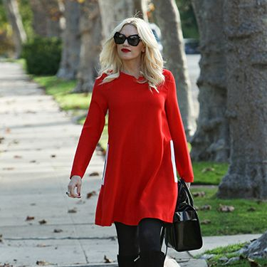 """<p>Oh to spend our autumn days strolling around L.A. in shades and a jumper dress like Gwen Stefani, instead of scuttling around like Gollum in a coat the size of a double duvet.</p><p><a href=""""http://www.cosmopolitan.co.uk/fashion/celebrity/little-mix-red-carpet-style-hacc"""" target=""""_blank"""">LITTLE MIX GIVE US WARDROBE ENVY</a></p><p><a href=""""http://www.cosmopolitan.co.uk/fashion/celebrity/how-to-wear-sheer-dress"""" target=""""_blank"""">CELEBS IN SHEER DRESSES</a></p><p><a href=""""http://www.cosmopolitan.co.uk/fashion/celebrity/x-factor-outfits-2013"""" target=""""_blank"""">ALL THE X FACTOR OUTFITS</a></p>"""