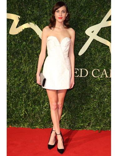 """<p>Alexa Chung wore little white Stella McCartney dress paired with black points to hand over the British Style Award over to this year's winner, Harry Styles. A travesty, we say!</p> <p><a href=""""http://www.cosmopolitan.co.uk/fashion/shopping/best-dressed-celebrities-29-november"""" target=""""_blank"""">SEE: BEST DRESSED CELEBS OF THE WEEK</a></p> <p><a href=""""http://www.cosmopolitan.co.uk/fashion/celebrity/how-to-wear-sheer-dress"""" target=""""_blank"""">CELEBRITY HOW-TO: SHEER DRESSES</a></p> <p><a href=""""http://www.cosmopolitan.co.uk/fashion/love/"""" target=""""_blank"""">RATE OR SLATE CELEBRITY STYLE</a></p>"""