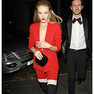 """<p>Rosie's colour-blocked ensemble was one of our most coveted last night&#x3B; her red, white, and black tailored trouser suit is *everything*</p><p><a href=""""http://www.cosmopolitan.co.uk/fashion/celebrity/british-fashion-awards-2013-best-dressed"""" target=""""_blank"""">BRITISH FASHION AWARDS BEST DRESSED</a></p><p><a href=""""http://www.cosmopolitan.co.uk/fashion/celebrity/x-factor-outfits-2013"""" target=""""_blank"""">X FACTOR OUTFITS FROM THE LIVE SHOW</a></p><p><a href=""""http://www.cosmopolitan.co.uk/fashion/celebrity/little-mix-red-carpet-style-hacc"""" target=""""_blank"""">LITTLE MIX ARE MAKING US SALIVATE</a></p>"""