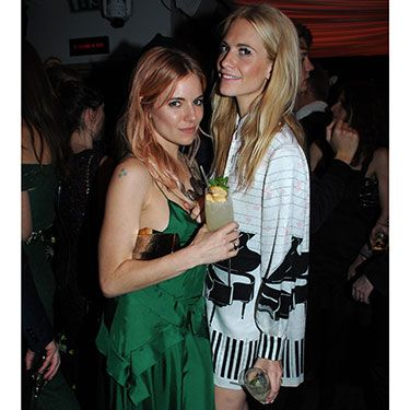 """<p>Two stylish ladies, one gorgeous photo. Sienna looked elegant in a breathtaking green gown, while Poppy opted for a more playful, piano-printed style. </p><p><a href=""""http://www.cosmopolitan.co.uk/fashion/celebrity/british-fashion-awards-2013-best-dressed"""" target=""""_blank"""">BRITISH FASHION AWARDS BEST DRESSED</a></p><p><a href=""""http://www.cosmopolitan.co.uk/fashion/celebrity/x-factor-outfits-2013"""" target=""""_blank"""">X FACTOR OUTFITS FROM THE LIVE SHOW</a></p><p><a href=""""http://www.cosmopolitan.co.uk/fashion/celebrity/little-mix-red-carpet-style-hacc"""" target=""""_blank"""">LITTLE MIX ARE MAKING US SALIVATE</a></p>"""