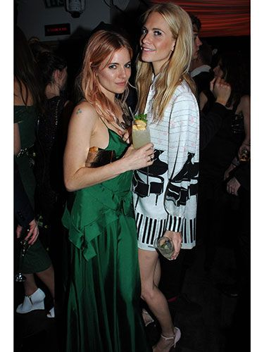 "<p>Two stylish ladies, one gorgeous photo. Sienna looked elegant in a breathtaking green gown, while Poppy opted for a more playful, piano-printed style. </p> <p><a href=""http://www.cosmopolitan.co.uk/fashion/celebrity/british-fashion-awards-2013-best-dressed"" target=""_blank"">BRITISH FASHION AWARDS BEST DRESSED</a></p> <p><a href=""http://www.cosmopolitan.co.uk/fashion/celebrity/x-factor-outfits-2013"" target=""_blank"">X FACTOR OUTFITS FROM THE LIVE SHOW</a></p> <p><a href=""http://www.cosmopolitan.co.uk/fashion/celebrity/little-mix-red-carpet-style-hacc"" target=""_blank"">LITTLE MIX ARE MAKING US SALIVATE</a></p>"