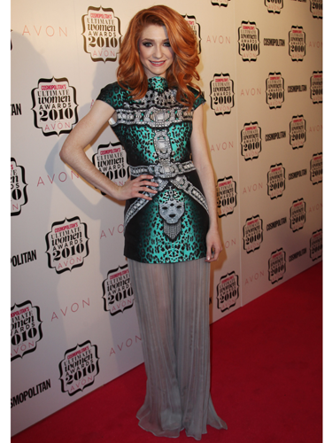 "<p>Nicola Roberts stepped onto the Cosmos 2010 red carpet in this oriental-inspired printed dress and was later crowned Ultimate Fashionista.</p> <p><a href=""http://www.cosmopolitan.co.uk/celebs/entertainment/cosmopolitan-ultimate-women-of-the-year-awards-2012-sponsored-by-vo5-real-women-video"" target=""_blank"">Cosmo's Ultimate Women of the Year Awards 2012 </a></p> <p><a href=""http://www.cosmopolitan.co.uk/celebs/ultimate-women-of-the-year/design-cover-finalists"" target=""_blank"">Design Cosmo's Cover competition: The finalists are revealed...</a></p> <p><a href=""http://www.cosmopolitan.co.uk/fashion/celebrity/"" target=""_blank"">Get the latest celebrity style news</a></p>"