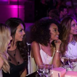 The Little Mix girls absolutely enthralled in the inspirational speeches on stage