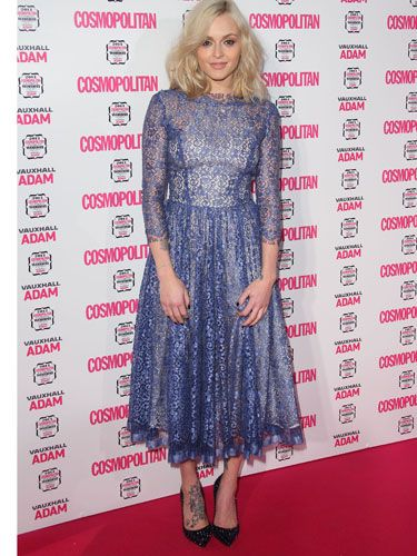 "<p>Our lovely host for the evening, Fearne Cotton is stunning as always on the pink carpet. LOVE her lilac frock and her tatt-revealing shoes.</p> <p><a href=""http://www.cosmopolitan.co.uk/celebs/ultimate-women-of-the-year/ultimate-women-awards-2013-live-blog"" target=""_blank"">FOLLOW THE AWARDS ON OUR LIVE BLOG</a></p>"