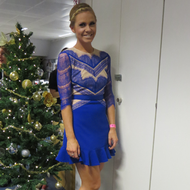 <p>You can tell Cosmo's Assistant Picture Editor Gemma has an eye for colour&#x3B; she expertly matched her strappy heels AND nails to her beauts blue Three Floor dress.</p>
