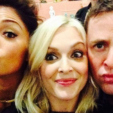 """<p>No wonder Fearne looks pleased with herself - we'd be pretty pleased if we managed to tweet a selfie with Scott Mills and Nicole Scherzinger too. </p><p><a href=""""http://www.cosmopolitan.co.uk/celebs/ultimate-women-of-the-year/cosmo-girl-party-fashion"""" target=""""_blank"""">SEE COSMO'S PARTY STYLE</a></p><p><a href=""""http://www.cosmopolitan.co.uk/beauty-hair/news/trends/celebrity-beauty/cosmo-ultimate-women-awards-2013-celebrity-hairstyles-makeup"""" target=""""_blank"""">KILLER HAIR AND MAKE-UP LOOKS AT THE COSMO AWARDS</a></p><p><a href=""""http://www.cosmopolitan.co.uk/celebs/ultimate-women-of-the-year/winners-list-2013"""" target=""""_blank"""">THE COSMOS 2013: THE WINNERS</a></p>"""