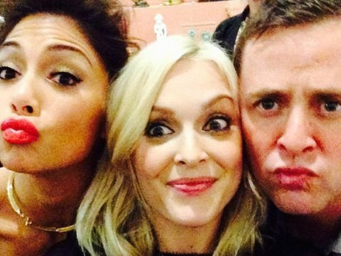 "<p>No wonder Fearne looks pleased with herself - we'd be pretty pleased if we managed to tweet a selfie with Scott Mills and Nicole Scherzinger too. </p> <p><a href=""http://www.cosmopolitan.co.uk/celebs/ultimate-women-of-the-year/cosmo-girl-party-fashion"" target=""_blank"">SEE COSMO'S PARTY STYLE</a></p> <p><a href=""http://www.cosmopolitan.co.uk/beauty-hair/news/trends/celebrity-beauty/cosmo-ultimate-women-awards-2013-celebrity-hairstyles-makeup"" target=""_blank"">KILLER HAIR AND MAKE-UP LOOKS AT THE COSMO AWARDS</a></p> <p><a href=""http://www.cosmopolitan.co.uk/celebs/ultimate-women-of-the-year/winners-list-2013"" target=""_blank"">THE COSMOS 2013: THE WINNERS</a></p>"