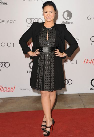 """<p>Fresh from her cocaine confessions, Demi looked demure in her<span id=""""intelliTXT""""> Helmut Lang jacket and Belstaff dress, topped off with strappy Loubs.</span></p> <div style=""""overflow: hidden; color: #000000; background-color: #ffffff; text-align: left; text-decoration: none;""""> <p><a href=""""http://www.cosmopolitan.co.uk/fashion/celebrity/chanel-fashion-show-dallas-texas"""" target=""""_blank"""">CHANEL DOES DALLAS: SEE THE CELEB PICS</a></p> <p><a href=""""http://www.cosmopolitan.co.uk/fashion/celebrity/victorias-secret-show-2013-taylor-swift"""" target=""""_blank"""">10 WAYS TAYLOR SWIFT TOTALLY OWNED THE VS SHOW</a></p> <a href=""""http://www.cosmopolitan.co.uk/fashion/news/"""" target=""""_blank"""">GET THE LATEST FASHION AND STYLE NEWS</a></div>"""