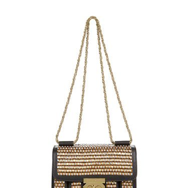<p>Channel your inner Gatsby with this art deco chic long chain purse. New Year's Eve anyone?</p>