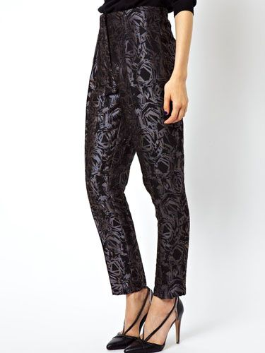 """<p>Could these trousers be any more chic? We love the slight sheen, the slight cropped length and the high waisted silhouette, which make for the perfect day-to-night trouser. Pair with black polo neck for day time wearing, or a sheer blouse for drinks in the evening. And don't forget the sky high heels.</p> <p>Abstract jacquard trousers, £24, <a href=""""http://www.asos.com/ASOS/ASOS-Trousers-in-Abstract-Jacquard/Prod/pgeproduct.aspx?iid=3131215&cid=1928&sh=0&pge=0&pgesize=204&sort=-1&clr=Multi"""" target=""""_blank"""">ASOS</a></p> <p><a href=""""http://www.cosmopolitan.co.uk/fashion/shopping/top-ten-sale-picks-harrods"""" target=""""_blank"""">TOP TEN SALE PICKS FROM HARRODS</a></p> <p><a href=""""http://www.cosmopolitan.co.uk/fashion/shopping/top-ten-fashion-buys"""" target=""""_blank"""">FASHION'S MOST WANTED OF 2013</a></p> <p><a href=""""http://www.cosmopolitan.co.uk/fashion/shopping/christmas-party-dresses-investment"""" target=""""_blank"""">TEN DREAMY PARTY DRESSES</a></p>"""