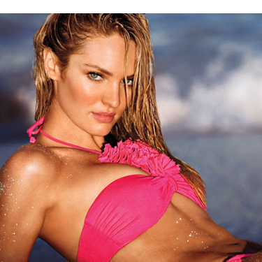 <p>Supermodel Candice Swanepoel stars in the latest Victoria's Secret swimsuit campaign for 2014.</p>