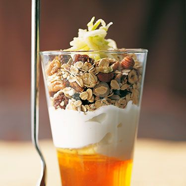 """<p><strong>BREAKFAST</strong></p><p>Low-fat plain yogurt with oat granola and 1 grated apple. Green tea.</p><p> </p><p><strong>LUNCH</strong></p><p>Salad of 50g reduced-fat mozzarella, 1 tomato, ½ small avocado, fresh basil, balsamic vinegar, salad leaves. 1 slice of seed bread.</p><p> </p><p><strong>DINNER</strong></p><p>1 chicken breast cooked with ginger, spring onions and soy sauce, with 50g (dry weight) rice noodles and mangetout.</p><p> </p><p><strong>SNACKS</strong></p><p>2 crispbreads, cottage cheese and 1 orange.</p><p>300ml skimmed milk, few slices papaya.</p><p> </p><p><a title=""""ALL CARBS ARE NOT CREATED EQUAL"""" href=""""http://www.cosmopolitan.co.uk/lifestyle/weight-loss-are-all-carbs-bad?click=main_sr"""" target=""""_blank"""">ALL CARBS ARE NOT CREATED EQUAL</a></p>"""