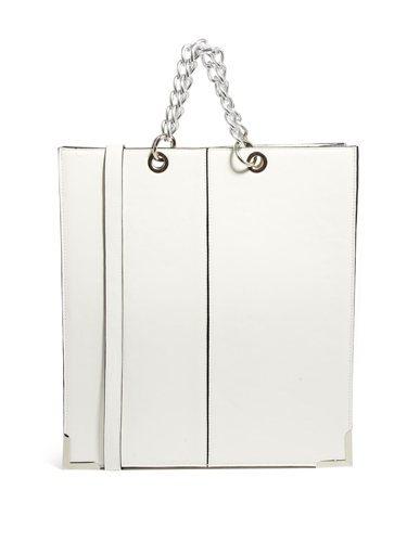"""<p>This chic carry-all is just the ticket for your new season wardrobe.</p> <p>Shopper With Chunky Metal Handle, £35, <a href=""""http://www.asos.com/ASOS/ASOS-Shopper-With-Chunky-Metal-Handle/Prod/pgeproduct.aspx?iid=3586376&WT.ac=FE