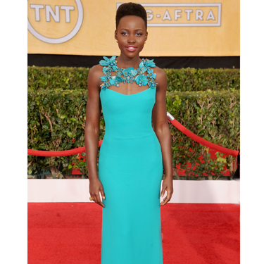 """<p>Oops, she did it again! Well, not oops, but you know what we mean. Seems there's no stopping the perrianally stylish Nupita Lyong'o, this time showing up on the red carpet in a bright turquoise dress by Gucci.But what totally makes this look is the floral neckline AKA this season's statement necklace.</p><p><a href=""""http://www.cosmopolitan.co.uk/fashion/celebrity/critics-choice-awards-2014-best-dressed"""" target=""""_blank"""">CRITCS' CHOICE AWARDS 2014: BEST DRESSED</a></p><p><a href=""""http://www.cosmopolitan.co.uk/fashion/celebrity/lupita-nyongo-who-is-she"""" target=""""_blank"""">WHO'S THAT GIRL: LUPITA NYONG'O</a></p><p><a href=""""http://www.cosmopolitan.co.uk/fashion/love/"""" target=""""_blank"""">VOTE ON CELEBRITY STYLE</a></p>"""