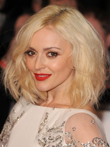 "<p>Fearne's new ice blonde hair looked seriously striking jujjed-up with texture. Her coral-red lipstick brightened her complexion and we loved the rose gold eye makeup.</p> <p><a href=""http://www.cosmopolitan.co.uk/beauty-hair/news/styles/celebrity/sexy-date-night-hairstyle-ideas"" target=""_blank"">14 DATE HAIRSTYLE IDEAS</a></p> <p><a href=""http://www.cosmopolitan.co.uk/beauty-hair/news/styles/celebrity/cosmo-hairstyle-of-the-day"" target=""_self"">CELEB HAIRSTYLE OF THE DAY</a></p> <p><a href=""http://www.cosmopolitan.co.uk/beauty-hair/news/styles/hair-trends-spring-summer-2014"" target=""_blank"">HUGE HAIR TRENDS FOR 2014</a></p>"