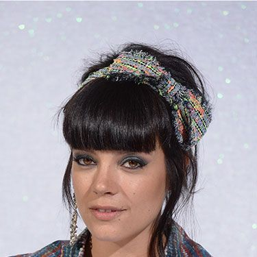 """<p>Lily Allen is bringing back the headband, and appropriately she donned a Chanel tweed bow in her hair at the label's Couture show last week in Paris. This is messy-chic at its best.</p><p><a href=""""http://www.cosmopolitan.co.uk/beauty-hair/news/styles/celebrity/sexy-date-night-hairstyle-ideas"""" target=""""_blank"""">14 DATE HAIRSTYLE IDEAS</a></p><p><a href=""""http://www.cosmopolitan.co.uk/beauty-hair/news/styles/celebrity/cosmo-hairstyle-of-the-day"""" target=""""_self"""">CELEB HAIRSTYLE OF THE DAY</a></p><p><a href=""""http://www.cosmopolitan.co.uk/beauty-hair/news/styles/hair-trends-spring-summer-2014"""" target=""""_blank"""">HUGE HAIR TRENDS FOR 2014</a></p>"""
