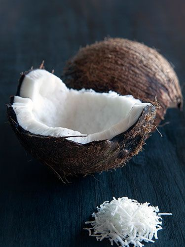 "<p><strong>Natasha says:</strong> ""Coconut is high in omega 3 which are the essential fatty acids to help keep your skin soft and brilliant to help grow your hair"". This 'good fat' aids the health of the skin's cell membrane which acts as a barrier to ageing aggressors like pollution and UV rays.</p> <p><strong>Try eating:</strong> Coconut oil (which is usually solid) is one of the healthiest and most versatile cooking and beauty buys. We like Tiana Organic fair Trade Cold Pressed Extra Virgin Coconut Oil. Cocoface coconuts have delicious water – also incredibly hydrating and PH levels balancing - and can be cut open to eat. Being raw and un-pasteurised the maximum benefits are maintained compared to shelf bought water.</p> <p><a href=""http://www.cosmopolitan.co.uk/diet-fitness/diets/10-best-weight-loss-tips"" target=""_blank"">GOLDEN WEIGHT LOSS RULES</a></p> <p><a href=""http://www.cosmopolitan.co.uk/diet-fitness/diets/health-benefits-of-protein"" target=""_blank"">WHY YOU SHOULD EAT MORE PROTEIN</a></p> <p><a href=""http://www.cosmopolitan.co.uk/diet-fitness/diets/easy-ways-to-reduce-your-sugar-intake"" target=""_blank"">SAY GOODBYE TO SUGAR</a></p>"