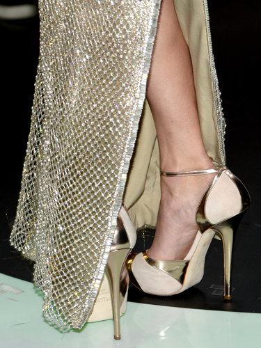 "<p>We love it when T-Swizzle embraces her height and dons a heel - especially works of art like these Deco-inspired Jimmy Choos. Ooh!</p> <p><a href=""http://www.cosmopolitan.co.uk/celebs/entertainment/grammys-2014-watch-live-red-carpet-coverage"" target=""_blank"">SEE THE GRAMMYS 2014 RED CARPET DRESSES</a></p> <p><a href=""http://www.cosmopolitan.co.uk/fashion/news/golden-globes-red-carpet-dresses?click=main_sr"" target=""_blank"">ALL THE DRESSES AT THE 2014 GOLDEN GLOBES</a></p> <p><a href=""http://www.cosmopolitan.co.uk/fashion/news/golden-globes-2014-fashion-trends?click=main_sr"" target=""_blank"">5 HOT FASHION TRENDS ON THE GOLDEN GLOBES RED CARPET 2014</a></p>"