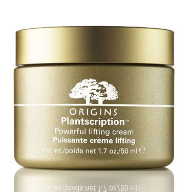 """<p>THEY SAY: A high-performing plant-powered formula that works deep within the skin's surface to help visibly lift and revolumize skin, ultimately restoring youthful facial definition.</p><p>WE SAY: """"This promises to counteract slack skin with exotic plant ingredients that boost production of skin-tautening elastin and volume-restoring collagen. It's rich and sumptuous but absorbs well, leaving my skin looking and feeling supremely smooth and hydrated. It won't take much encouragement to finish the pot and achieve maximum results.""""</p><p>Inge, Beauty Director</p><p>SCORE: 7.5/10</p><p><a href=""""http://www.origins.com/index.tmpl"""">Origins Plantscriptions Powerful Lifting Cream, £50</a></p>"""