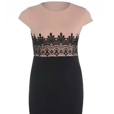 <p>If you're going on a date straight from work, this dress is a winner. Chic enough to impress both your boss AND your boy, the clever colour blocking and deco detail draws the eye to all the right places. Switch work flats for party heels and you're set to sizzle.</p>