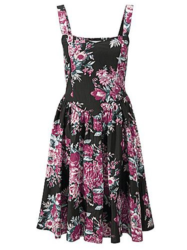 """<p>Vintage 50s-inspired shapes usually flatter a curvier figure, and this floral print frock is based on an original design. With wide bra-friendly straps and its fit 'n' flare style, just pair with a cute cardi and opaques for a cute, girly look. Or save this dress for some summer lovin'...</p> <p>Joe Browns Vintage Tea Dress, £45, <a href=""""http://www.simplybe.co.uk/shop/joe-browns-vintage-tea-dress/uk227/product/details/show.action?pdBoUid=9985#colour:Black%20Multi%20Coloured,size:"""" target=""""_blank"""">simplybe.co.uk</a></p> <p><a href=""""http://www.cosmopolitan.co.uk/fashion/shopping/date-dresses-womens-cheap-clothing"""" target=""""_blank"""">SHOP: DATE DRESSES FOR £20 OR LESS</a></p> <p><a href=""""http://www.cosmopolitan.co.uk/fashion/shopping/dress-spring-fashion-trends-2014"""" target=""""_blank"""">12 DRESSES THAT SCREAM SPRING</a></p> <p><a href=""""http://www.cosmopolitan.co.uk/fashion/shopping/kelly-brook-valentines-lingerie-new-look"""" target=""""_blank"""">KELLY BROOK'S SEXY VALENTINE'S LINGERIE RANGE</a></p>"""