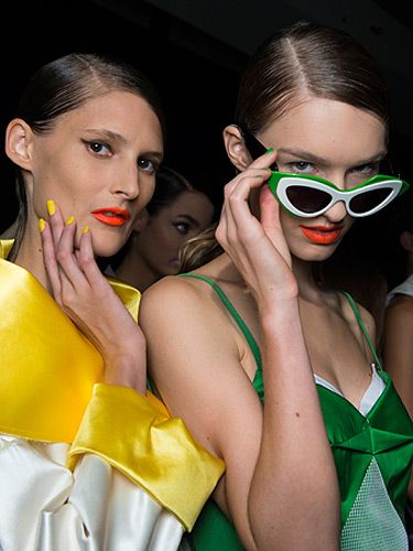 "<p><strong>The look:</strong> From neon to coral, orange tones make loud mouths cool this season. The easiest way to wear bright lip colour is with a chunky glide-on pencil.</p> <p><strong>The shows:</strong> At Rag & Bone models wore a matte lipstick, at Creatures of the Wind the lipstick finish was a satin textured and at Prabal Gurung (pictured) the look was neon-bright.<br /><strong></strong></p> <p><strong>The products:</strong> Revlon ColorBurst Crayon Matte Balm in Mischievous, NARS Heat Wave Lipstick</p> <p><a href=""http://www.cosmopolitan.co.uk/beauty-hair/news/styles/hair-trends-spring-summer-2014"" target=""_blank"">THE HUGE HAIR TRENDS FOR 2014 </a></p> <p><a href=""http://www.cosmopolitan.co.uk/beauty-hair/news/trends/nail-trends-spring-summer-2014"" target=""_self"">KEY NAIL TRENDS FOR S/S 2014</a></p> <p><a href=""http://www.cosmopolitan.co.uk/fashion/shopping/spring-fashion-trends-2014"" target=""_blank"">SPRING/SUMMER 2014 FASHION TRENDS</a></p>"