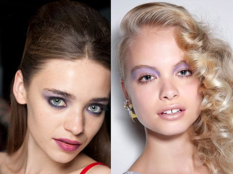 """<p><strong>The look:</strong> Orchid, lilac and lavender shades are invading your makeup bags. The coolest way to tackle the trend is with eyeshadow, but wearing purple washes on your lips and tips is another option. </p><p><strong>The shows:</strong> Holly Fulton (right) showcased splashes of pastel purple on just the upper eyelids, PPQ (left) did different shades of the colour on the eyes and lips while Marchesa did gothic violet lips and light lavender nails. <br /><strong></strong></p><p><strong>The products:</strong> Maybelline Color Tattoo in Endless Purple, Lola Eye Shadow in Lavender, Sensational Lipstick in Midnight Plum, Revlon Nail Enamel in Charming</p><p><a href=""""http://www.cosmopolitan.co.uk/beauty-hair/news/styles/hair-trends-spring-summer-2014"""" target=""""_blank"""">THE HUGE HAIR TRENDS FOR 2014 </a></p><p><a href=""""http://www.cosmopolitan.co.uk/beauty-hair/news/trends/nail-trends-spring-summer-2014"""" target=""""_self"""">KEY NAIL TRENDS FOR S/S 2014</a></p><p><a href=""""http://www.cosmopolitan.co.uk/fashion/shopping/spring-fashion-trends-2014"""" target=""""_blank"""">SPRING/SUMMER 2014 FASHION TRENDS</a></p>"""