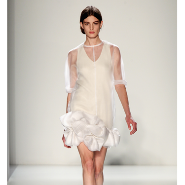 """<p>Sculptural, sheer and oh-so stylish, this frothy little frock is just dreamy. Time for the LBD to take a back seat?</p><p><a href=""""http://www.cosmopolitan.co.uk/fashion/Fashion-week/fashion-week-daily-live-streams"""" target=""""_blank"""">WATCH NEW YORK FASHION WEEK LIVE (FROM YOUR SOFA)</a></p><p><a href=""""http://cosmopolitan.co.uk/fashion/news/victoria-beckham-fashion-skype-documentary?click=main_sr"""" target=""""_blank"""">GO BEHIND-THE-SCENES AT VB'S FASHION LABEL HQ</a></p><p><a href=""""http://www.cosmopolitan.co.uk/fashion/shopping/dress-spring-fashion-trends-2014"""" target=""""_blank"""">SHOP 12 DRESSES THAT SCREAM SPRING</a></p>"""