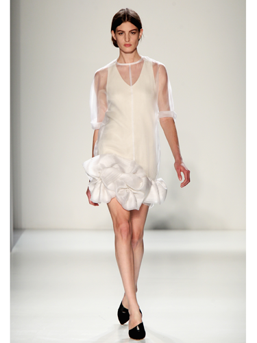 "<p>Sculptural, sheer and oh-so stylish, this frothy little frock is just dreamy. Time for the LBD to take a back seat?</p> <p><a href=""http://www.cosmopolitan.co.uk/fashion/Fashion-week/fashion-week-daily-live-streams"" target=""_blank"">WATCH NEW YORK FASHION WEEK LIVE (FROM YOUR SOFA)</a></p> <p><a href=""http://cosmopolitan.co.uk/fashion/news/victoria-beckham-fashion-skype-documentary?click=main_sr"" target=""_blank"">GO BEHIND-THE-SCENES AT VB'S FASHION LABEL HQ</a></p> <p><a href=""http://www.cosmopolitan.co.uk/fashion/shopping/dress-spring-fashion-trends-2014"" target=""_blank"">SHOP 12 DRESSES THAT SCREAM SPRING</a></p>"