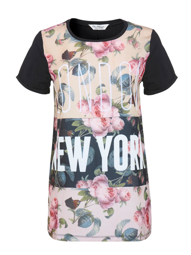 """<p>As the fashion week baton gets handed over from New York to London in a few days, thisT-shirt is ridic appropriate (and really rather pretty, too).</p> <p>Floral London NY T-shirt, £25, <a href=""""http://www.missselfridge.com/webapp/wcs/stores/servlet/ProductDisplay?beginIndex=0&viewAllFlag=&catalogId=33055&storeId=12554&productId=13658128&langId=-1&categoryId=&parent_category_rn=&searchTerm=floral%20london%20ny%20tee&resultCount=1"""" target=""""_blank"""">missselfridge.com</a></p> <p><a href=""""http://www.cosmopolitan.co.uk/fashion/shopping/spring-fashion-trends-2014?page=1"""" target=""""_blank"""">7 BIG FASHION TRENDS FOR SPRING 2014</a></p> <p><a href=""""http://www.cosmopolitan.co.uk/fashion/shopping/chanel-couture-trainers-high-street"""" target=""""_blank"""">SHOP 10 SOUPED-UP SNEAKERS</a></p> <p><a href=""""http://www.cosmopolitan.co.uk/fashion/shopping/date-dresses-curvy-girls"""" target=""""_blank"""">8 DATE DRESSES FOR CURVY GIRLS</a></p>"""