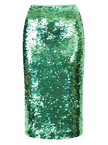 """<p>This season, sequins ain't just for partying in. Bedazzle by day in this shimmering skirt. Dress down with a slogan sweater and pimped-up kicks.</p> <p>Sequin pencil skirt, £65, <a href=""""http://www.topshop.com/en/tsuk/product/new-in-this-week-2169932/new-in-this-week-493/mint-sequin-pencil-skirt-2663988"""" target=""""_blank"""">topshop.com</a></p> <p><a href=""""http://www.cosmopolitan.co.uk/fashion/shopping/spring-fashion-trends-2014?page=1"""" target=""""_blank"""">7 BIG FASHION TRENDS FOR SPRING 2014</a></p> <p><a href=""""http://www.cosmopolitan.co.uk/fashion/shopping/chanel-couture-trainers-high-street"""" target=""""_blank"""">SHOP 10 SOUPED-UP SNEAKERS</a></p> <p><a href=""""http://www.cosmopolitan.co.uk/fashion/shopping/date-dresses-curvy-girls"""" target=""""_blank"""">8 DATE DRESSES FOR CURVY GIRLS</a></p>"""