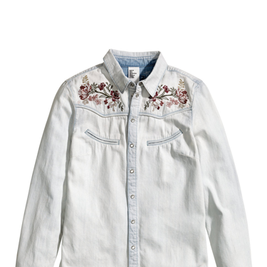 """<p>You can never have too many shirts, and this faded beauty, complete with folkish embroidery, gives serious vintage vibes - perfect for this season's love of all things 70s.</p><p>Denim shirt, £29.99, <a href=""""http://www.hm.com/gb/product/21787?article=21787-A"""" target=""""_blank"""">hm.com</a></p><p><a href=""""http://www.cosmopolitan.co.uk/fashion/shopping/spring-fashion-trends-2014?page=1"""" target=""""_blank"""">7 BIG FASHION TRENDS FOR SPRING 2014</a></p><p><a href=""""http://www.cosmopolitan.co.uk/fashion/shopping/chanel-couture-trainers-high-street"""" target=""""_blank"""">SHOP 10 SOUPED-UP SNEAKERS</a></p><p><a href=""""http://www.cosmopolitan.co.uk/fashion/shopping/date-dresses-curvy-girls"""" target=""""_blank"""">8 DATE DRESSES FOR CURVY GIRLS</a></p>"""