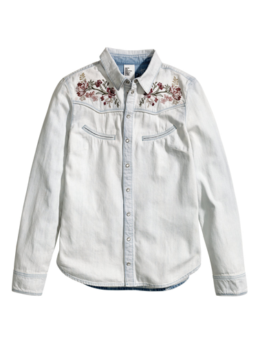 """<p>You can never have too many shirts, and this faded beauty, complete with folkish embroidery, gives serious vintage vibes - perfect for this season's love of all things 70s.</p> <p>Denim shirt, £29.99, <a href=""""http://www.hm.com/gb/product/21787?article=21787-A"""" target=""""_blank"""">hm.com</a></p> <p><a href=""""http://www.cosmopolitan.co.uk/fashion/shopping/spring-fashion-trends-2014?page=1"""" target=""""_blank"""">7 BIG FASHION TRENDS FOR SPRING 2014</a></p> <p><a href=""""http://www.cosmopolitan.co.uk/fashion/shopping/chanel-couture-trainers-high-street"""" target=""""_blank"""">SHOP 10 SOUPED-UP SNEAKERS</a></p> <p><a href=""""http://www.cosmopolitan.co.uk/fashion/shopping/date-dresses-curvy-girls"""" target=""""_blank"""">8 DATE DRESSES FOR CURVY GIRLS</a></p>"""
