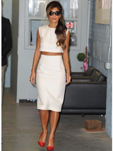 "<p><a href=""http://cosmopolitan.co.uk/fashion/news/nicole-scherzinger-x-factor-2013-earrings"" target=""_blank"">Nicole Scherzinger</a> looked wowser in her white separates at the ITV studios in London yesterday. The X Factor judge braved the autumn chill in her pencil skirt and crop top combo, which she paired with bright red Kurt Geiger pumps and cat eye sunglasses. Meow!</p> <p><a href=""http://www.cosmopolitan.co.uk/fashion/celebrity/celebrity-tattoo-dos-donts"" target=""_blank"">CELEBRITY TATTOO DO'S AND DON'TS</a></p> <p><a href=""http://www.cosmopolitan.co.uk/fashion/celebrity/who-wore-it-best-celebrities-in-the-same-outfits"" target=""_blank"">WHO WORE IT BEST? CELEBS IN SAME OUTFITS</a></p> <p><a href=""http://www.cosmopolitan.co.uk/fashion/celebrity/"" target=""_blank"">SEE THE LATEST CELEBRITY STYLE NEWS</a></p>"