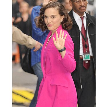 """<p>The Thor: The Dark World star looked stunning in her hot pink coat while visiting Good Morning America in New York City. We were already loving the pale pink trend this winter, but this is on another level.</p><p><a href=""""http://www.cosmopolitan.co.uk/fashion/shopping/winter-coats-less-than-50-pounds?click=main_sr"""" target=""""_blank"""">SHOP 6 WINTER COATS FOR £50 OR LESS</a></p><p><a href=""""http://www.cosmopolitan.co.uk/fashion/shopping/what-to-wear-to-winter-wedding?click=main_sr"""" target=""""_blank"""">WHAT TO WEAR TO A WINTER WEDDING</a></p><p><a href=""""http://www.cosmopolitan.co.uk/fashion/shopping/christmas-jumpers-2013-primark-womens?click=main_sr"""" target=""""_blank"""">FIRST LOOK: PRIMARK JUMPERS ARE HERE</a></p><p> </p>"""