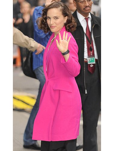 "<p>The Thor: The Dark World star looked stunning in her hot pink coat while visiting Good Morning America in New York City. We were already loving the pale pink trend this winter, but this is on another level.</p> <p><a href=""http://www.cosmopolitan.co.uk/fashion/shopping/winter-coats-less-than-50-pounds?click=main_sr"" target=""_blank"">SHOP 6 WINTER COATS FOR £50 OR LESS</a></p> <p><a href=""http://www.cosmopolitan.co.uk/fashion/shopping/what-to-wear-to-winter-wedding?click=main_sr"" target=""_blank"">WHAT TO WEAR TO A WINTER WEDDING</a></p> <p><a href=""http://www.cosmopolitan.co.uk/fashion/shopping/christmas-jumpers-2013-primark-womens?click=main_sr"" target=""_blank"">FIRST LOOK: PRIMARK JUMPERS ARE HERE</a></p> <p> </p>"
