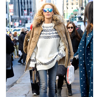 """<p>This stylish show-goer has a swagger in her step and that's because she KNOWS she's owning that sidewalk. A very stylish take on ski-wear sees a Fair Isle knit, heavyweight parka (shoulder-robed, natch), visor-like shades and chunky heeled Timberlands make for one very cute 'n' cosy look.</p><p><a href=""""http://www.cosmopolitan.co.uk/fashion/news/victoria-beckham-nyfw-show-2014"""" target=""""_blank"""">VICTORIA BECKHAM'S AW14 SHOW - CATWALK PICS</a></p><p><a href=""""http://www.cosmopolitan.co.uk/fashion/Fashion-week/fashion-week-daily-live-streams"""" target=""""_blank"""">WATCH NEW YORK FASHION WEEK LIVE (FROM YOUR SOFA)</a></p><p><a href=""""http://www.cosmopolitan.co.uk/fashion/news/celebs-new-york-fashion-week-aw14"""" target=""""_blank"""">SEE WHAT THE CELEBS ARE WEARING ON THE NYFW FROW</a></p><p> </p><div style=""""overflow: hidden&#x3B; color: #000000&#x3B; background-color: #ffffff&#x3B; text-align: left&#x3B; text-decoration: none&#x3B;""""> </div>"""