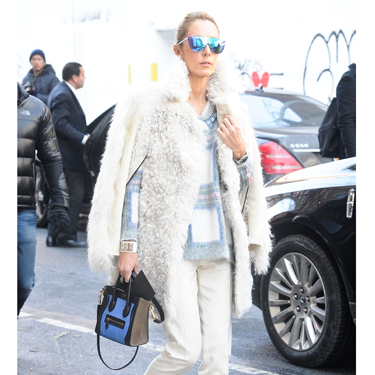 """<p>Winter whites work well for that tricky transition into spring. Just add mirrored shades and, if you can afford it, a Stella McCartney checked sweat.</p><p><a href=""""http://www.cosmopolitan.co.uk/fashion/news/victoria-beckham-nyfw-show-2014"""" target=""""_blank"""">VICTORIA BECKHAM'S AW14 SHOW - CATWALK PICS</a></p><p><a href=""""http://www.cosmopolitan.co.uk/fashion/Fashion-week/fashion-week-daily-live-streams"""" target=""""_blank"""">WATCH NEW YORK FASHION WEEK LIVE (FROM YOUR SOFA)</a></p><p><a href=""""http://www.cosmopolitan.co.uk/fashion/news/celebs-new-york-fashion-week-aw14"""" target=""""_blank"""">SEE WHAT THE CELEBS ARE WEARING ON THE NYFW FROW</a></p><div style=""""overflow: hidden&#x3B; color: #000000&#x3B; background-color: #ffffff&#x3B; text-align: left&#x3B; text-decoration: none&#x3B;""""> </div>"""