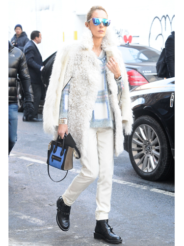"<p>Winter whites work well for that tricky transition into spring. Just add mirrored shades and, if you can afford it, a Stella McCartney checked sweat.</p> <p><a href=""http://www.cosmopolitan.co.uk/fashion/news/victoria-beckham-nyfw-show-2014"" target=""_blank"">VICTORIA BECKHAM'S AW14 SHOW - CATWALK PICS</a></p> <p><a href=""http://www.cosmopolitan.co.uk/fashion/Fashion-week/fashion-week-daily-live-streams"" target=""_blank"">WATCH NEW YORK FASHION WEEK LIVE (FROM YOUR SOFA)</a></p> <p><a href=""http://www.cosmopolitan.co.uk/fashion/news/celebs-new-york-fashion-week-aw14"" target=""_blank"">SEE WHAT THE CELEBS ARE WEARING ON THE NYFW FROW</a></p> <div style=""overflow: hidden; color: #000000; background-color: #ffffff; text-align: left; text-decoration: none;""> </div>"