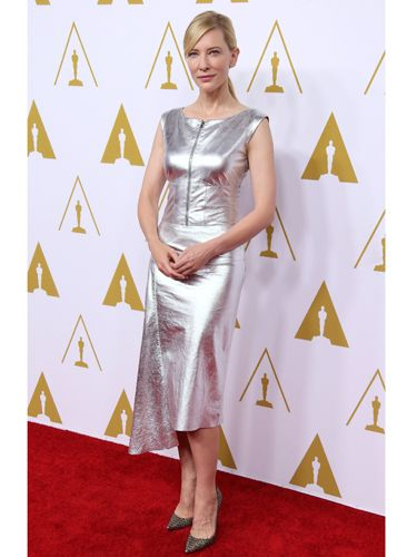 "<p>Cate Blanchett, up for best leading actress, looked super stylish in a silver leather dress.</p> <p><a href=""http://www.cosmopolitan.co.uk/fashion/news/celebs-new-york-fashion-week-aw14"" target=""_blank"">CELEBRITY STYLE AT NEW YORK FASHION WEEK</a></p> <p><a href=""http://cosmopolitan.co.uk/fashion/celebrity/lupita-nyongo-who-is-she?click=main_sr"" target=""_blank"">10 THINGS YOU SHOULD KNOW ABOUT LUPITA NYONG'O</a></p> <p><a href=""http://cosmopolitan.co.uk/fashion/shopping/date-dresses-curvy-girls?click=main_sr"" target=""_blank"">SHOP 8 GREAT DATE DRESSES FOR CURVY GIRLS</a></p>"