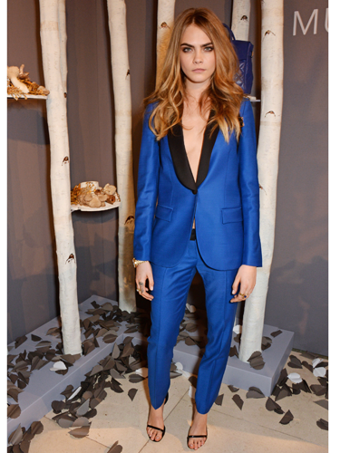 "<p>Wowowow. Cara looks effortlessly cool in her colour-popping cobalt blue suit - by Mulberry, natch. Tailoring made sexy with the lack of top underneath, take note!</p> <p><a href=""http://www.cosmopolitan.co.uk/fashion/news/julien-macdonald-aw14-dress-collection"" target=""_blank"">JULIEN MACDONALD'S AW14 DRESSES ARE AMAZING</a></p> <p><a href=""http://www.cosmopolitan.co.uk/fashion/shopping/mulberry-cara-delevingne-handbag-collection"" target=""_blank"">SEE CARA DELEVINGNE'S MULBERRY BAG COLLECTION</a></p> <p><a href=""http://www.cosmopolitan.co.uk/fashion/news/celebs-new-york-fashion-week-aw14"" target=""_blank"">CELEBRITIES LOOKING FINE AT FASHION WEEK</a></p>"