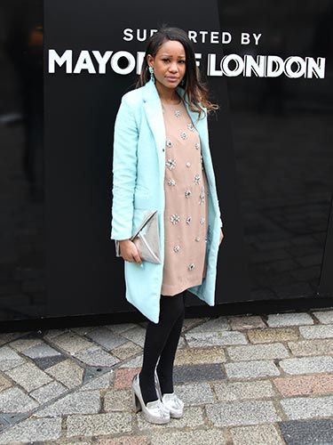 """<p>We love the collision of pastel blues and metallic silvers here.</p> <p><a href=""""http://www.cosmopolitan.co.uk/fashion/news/new-york-fashion-week-street-style-aw14"""" target=""""_blank"""">NEW YORK FASHION WEEK STREET STYLE</a></p> <p><a href=""""http://www.cosmopolitan.co.uk/fashion/news/celebs-new-york-fashion-week-aw14"""" target=""""_blank"""">NEW YORK FASHION WEEK FROW</a></p> <p><a href=""""http://www.cosmopolitan.co.uk/fashion/news/victoria-beckham-nyfw-show-2014"""" target=""""_blank"""">VICTORIA BECKHAM AW14 NYFW</a><br /><br /></p>"""