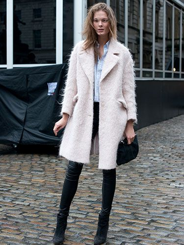 """<p>Model Irina Kulikova was off-duty but still looked like she belonged on the catwalk, pairing a Ralph Lauren Cos coat, blue button-down shirt and Helmut Lang leather trousers this weekend - the pastel blue coat may be going strong at fashion week, but Irina still pulls of the coveted pink coat with flair.</p> <p><a href=""""http://www.cosmopolitan.co.uk/fashion/news/celebs-new-york-fashion-week-aw14"""" target=""""_blank"""">CELEBRITIES AT FASHION WEEK</a></p> <p><a href=""""http://www.cosmopolitan.co.uk/fashion/news/new-york-fashion-week-street-style-aw14"""" target=""""_blank"""">NEW YORK FASHION WEEK STREET STYLE</a></p> <p><a href=""""http://www.cosmopolitan.co.uk/fashion/news/celebs-new-york-fashion-week-aw14"""" target=""""_blank"""">NEW YORK FASHION WEEK FROW</a></p>"""