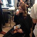 """<p>Multi-tasking means eating AND getting your hair done. </p><p><a href=""""http://www.cosmopolitan.co.uk/beauty-hair/news/trends/hair-makeup-trends-autumn-winter-2014"""" target=""""_blank"""">FASHION WEEK BEAUTY TRENDS AW14</a></p><p><a href=""""http://www.cosmopolitan.co.uk/beauty-hair/news/trends/topshop-unique-aw-14-hair-makeup"""" target=""""_blank"""">TOPSHOP'S """"BAD GIRL BEAUTY"""" AT LFW AW14</a></p><p><a href=""""http://www.cosmopolitan.co.uk/diet-fitness/diets/superfood-smoothie-ingredients-to-boost-health"""" target=""""_blank"""">SUPERFOOD SMOOTHIE INGREDIENTS</a></p>"""