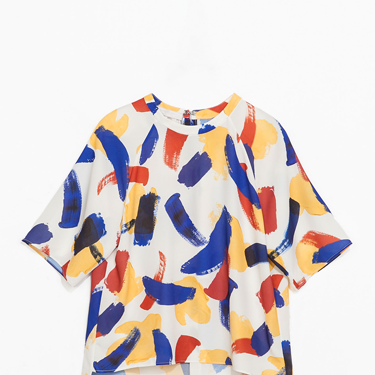 """<p>If your top isn't covered in paint splatters this season, IT DOESN'T EXIST. As seen at the likes of Celine, fashion gets a fine art spin for spring.</p><p>Brush-strokes print blouse, £25.99, <a href=""""http://www.zara.com/uk/en/new-this-week/woman/blouse-with-small-brush-strokes-print-c363008p1738008.html"""" target=""""_blank"""">zara.com</a></p><p><a href=""""http://www.cosmopolitan.co.uk/fashion/shopping/spring-fashion-trends-2014?page=1"""" target=""""_blank"""">7 BIG FASHION TRENDS FOR SPRING 2014</a></p><p><a href=""""http://www.cosmopolitan.co.uk/fashion/shopping/sexy-bras-big-breasts"""" target=""""_blank"""">5 SEXY BRAS FOR BIG BOOBS</a></p><p><a href=""""http://www.cosmopolitan.co.uk/fashion/news/Topshop-Unique-autumn-winter-2014-London-Fashion-Week"""" target=""""_blank"""">TOPSHOP UNIQUE'S BEST BITS FOR AW14</a></p>"""
