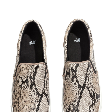 """<p>It's been a long time coming but boyish skate shoes are having a moment and we heart this affordable pair from H&M. Wear with leather skinnies and a longline knit for off-duty cool.</p><p>Snakeskin skate shoes, £19.99, <a href=""""http://www.hm.com/gb/product/17697?article=17697-D"""" target=""""_blank"""">hm.com</a></p><p><a href=""""http://www.cosmopolitan.co.uk/fashion/shopping/spring-fashion-trends-2014?page=1"""" target=""""_blank"""">7 BIG FASHION TRENDS FOR SPRING 2014</a></p><p><a href=""""http://www.cosmopolitan.co.uk/fashion/shopping/sexy-bras-big-breasts"""" target=""""_blank"""">5 SEXY BRAS FOR BIG BOOBS</a></p><p><a href=""""http://www.cosmopolitan.co.uk/fashion/news/Topshop-Unique-autumn-winter-2014-London-Fashion-Week"""" target=""""_blank"""">TOPSHOP UNIQUE'S BEST BITS FOR AW14</a></p>"""